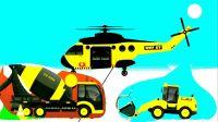 工程車視頻之攪拌車裝載機直升機齊登場  城市建設忙不停  阿克叔游戲_1080p