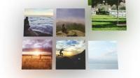 AE模板-清晰優雅社交網絡瀑布流圖片切換展示新媒體視頻展示模版18713960