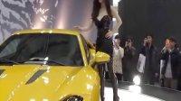 肥FZ皂  2013韓國車展 黑色連體皮衣模特太妖艷了 高清