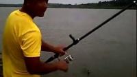 鐵嶺海桿競技釣,法庫石砬子水庫釣魚視頻溜魚釣大魚技巧牛人釣魚