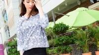 2015夏裝韓版新款寬松七分袖顯瘦休閑蝙蝠衫女春圓領上衣打底