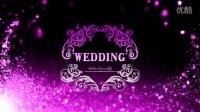 唯美浪漫紫色粒子高端婚禮婚慶