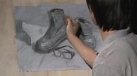 素描作品素描少女素描頭像視頻