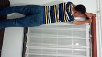 免安裝簡易窗簾伸縮桿安裝方法