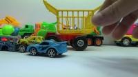 動物園卡車運輸晚餐卡車和兒童晚餐錄像
