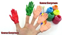 學習顏色視頻為兒童身體油漆手指家庭歌曲苗圃Rhymes
